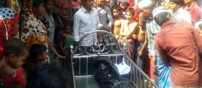 The body of Jasim Uddin is returned to his home village