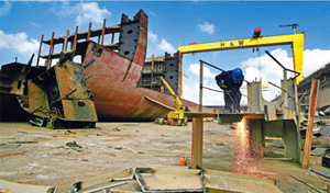 China ship breaking yard